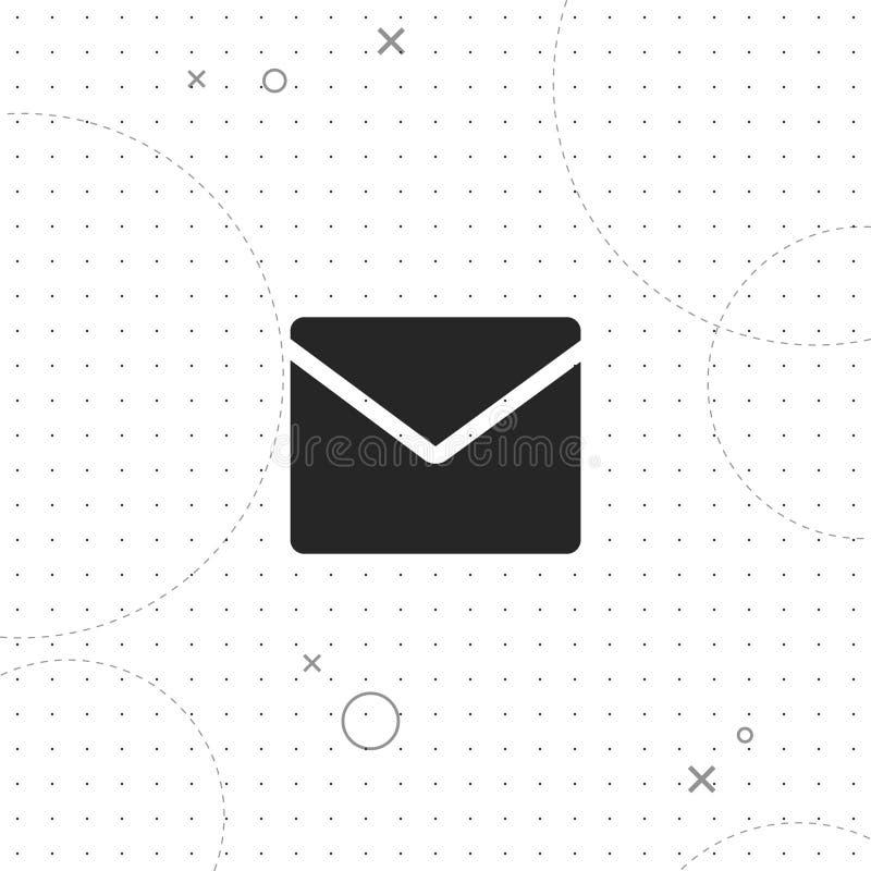 Электронная почта, значок вектора самый лучший плоский иллюстрация штока