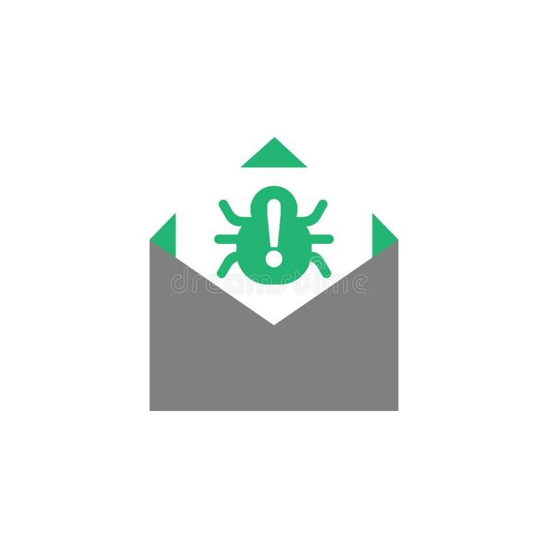 Электронная почта, значок спама Элемент значка кибер и безопасности для мобильных приложений концепции и сети Детализированную эл бесплатная иллюстрация
