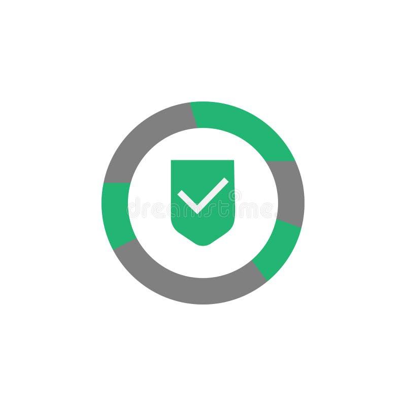 Электронная почта, значок malware Элемент значка кибер и безопасности для мобильных приложений концепции и сети Детализированную  бесплатная иллюстрация