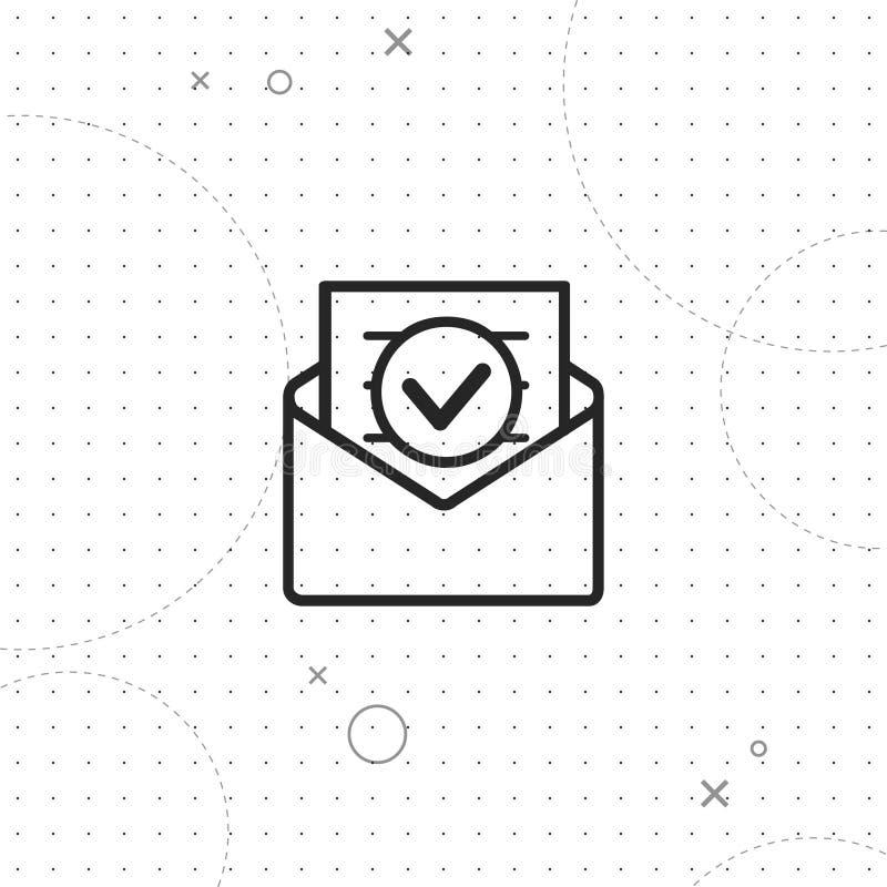 Электронная почта, линия значок вектора самая лучшая иллюстрация вектора