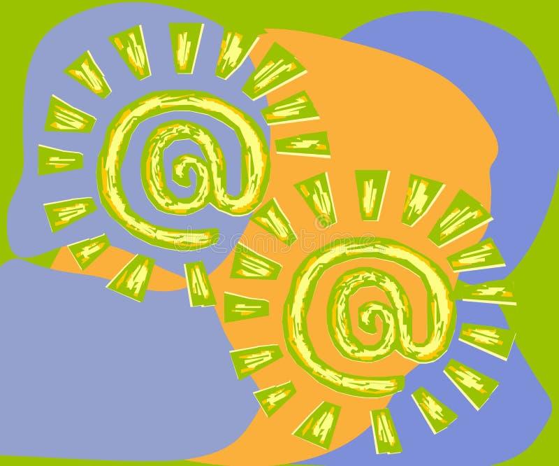 электронная почта псевдонима иллюстрация вектора