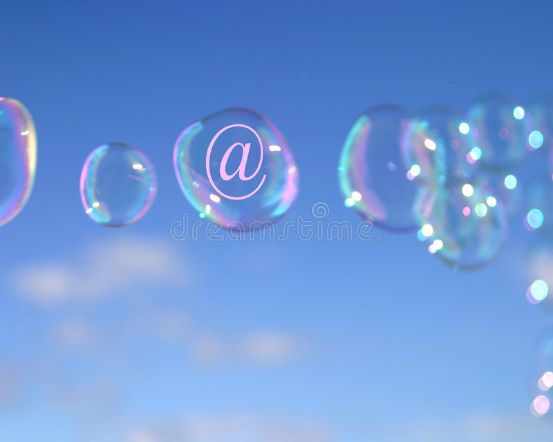 электронная почта пузырей стоковые изображения
