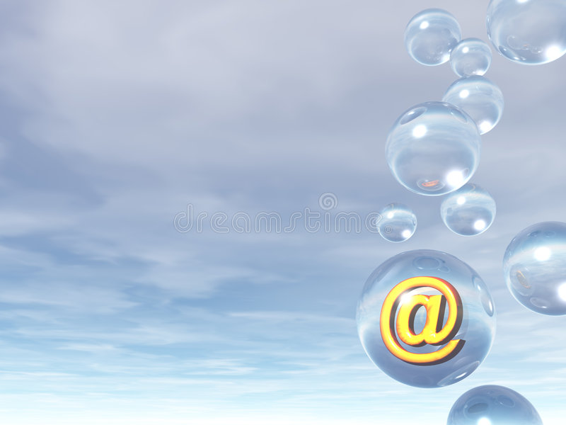 электронная почта пузыря бесплатная иллюстрация