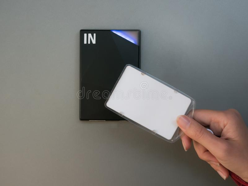 Электронная система доступа на стене стоковая фотография
