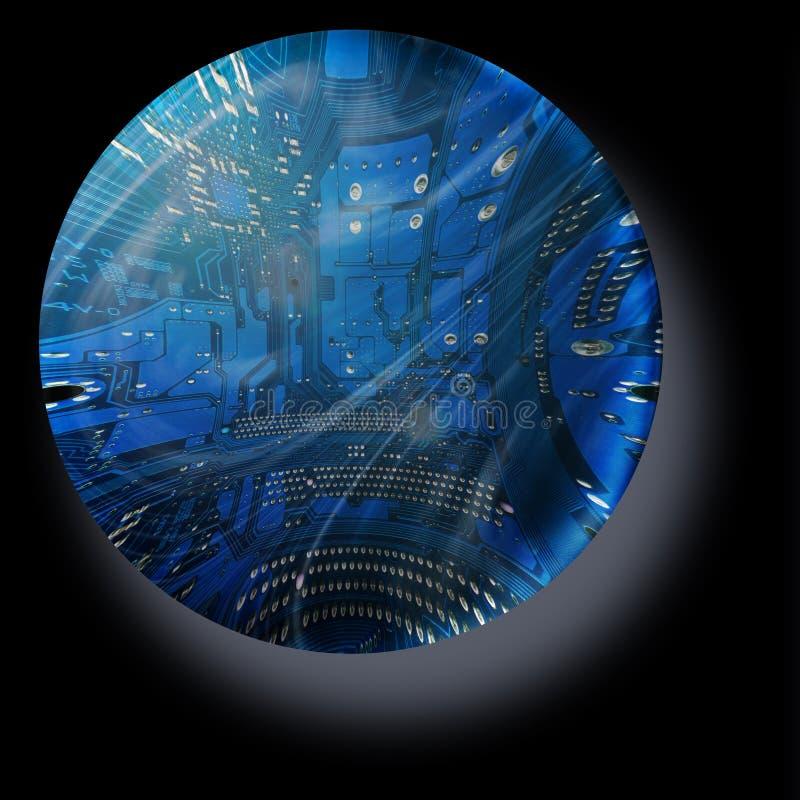 электронная сфера иллюстрация штока