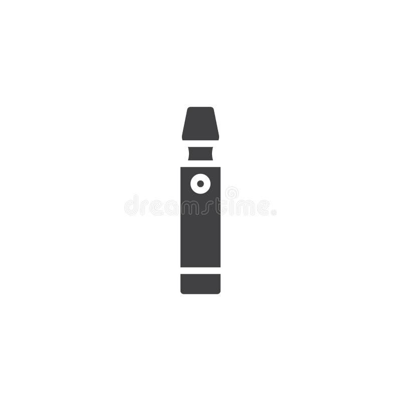 Электронный значок вектора сигареты иллюстрация штока