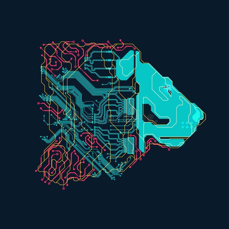 Электронный лев бесплатная иллюстрация