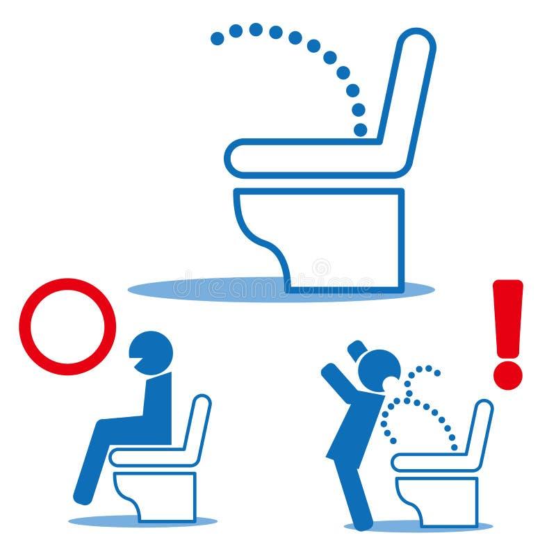 Электронный туалет - туалет биде - высокотехнологичный туалет иллюстрация вектора