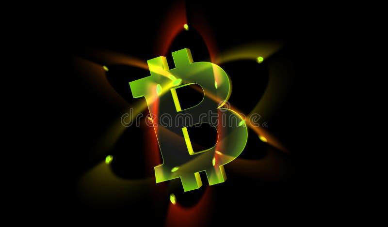 Электрон Bitcoin иллюстрация вектора