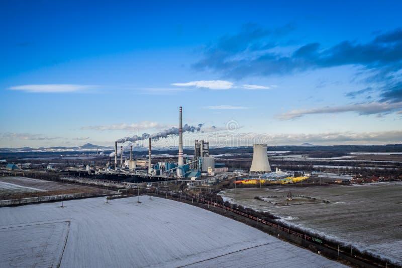 Электростанция в Melnik в чехии стоковое изображение rf