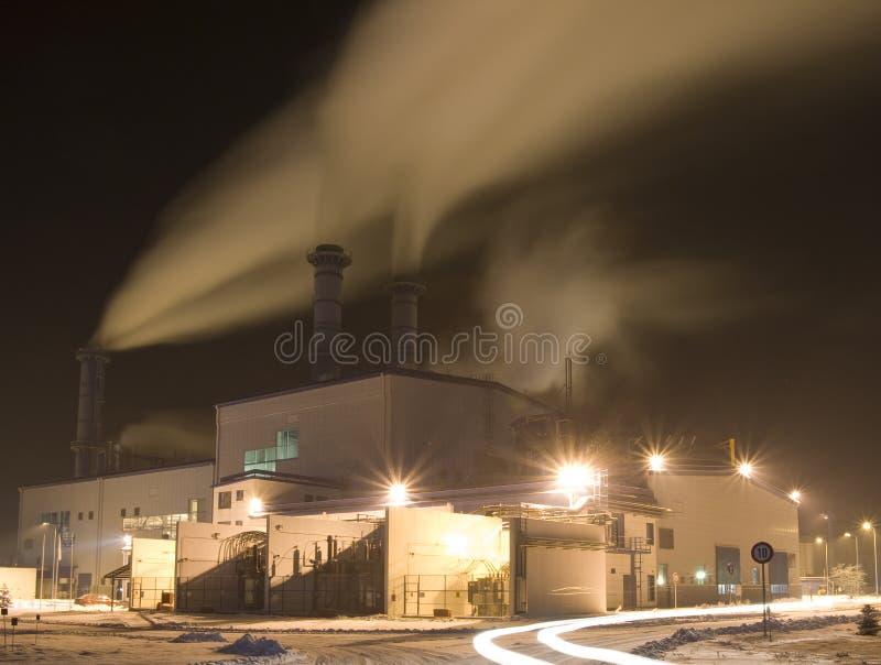 электростанция завода стоковое изображение rf