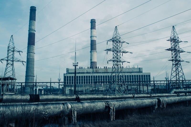 Электростанция и система отопления стоковая фотография rf