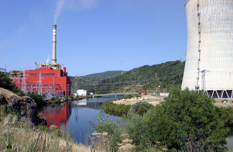электростанция стоковое изображение rf