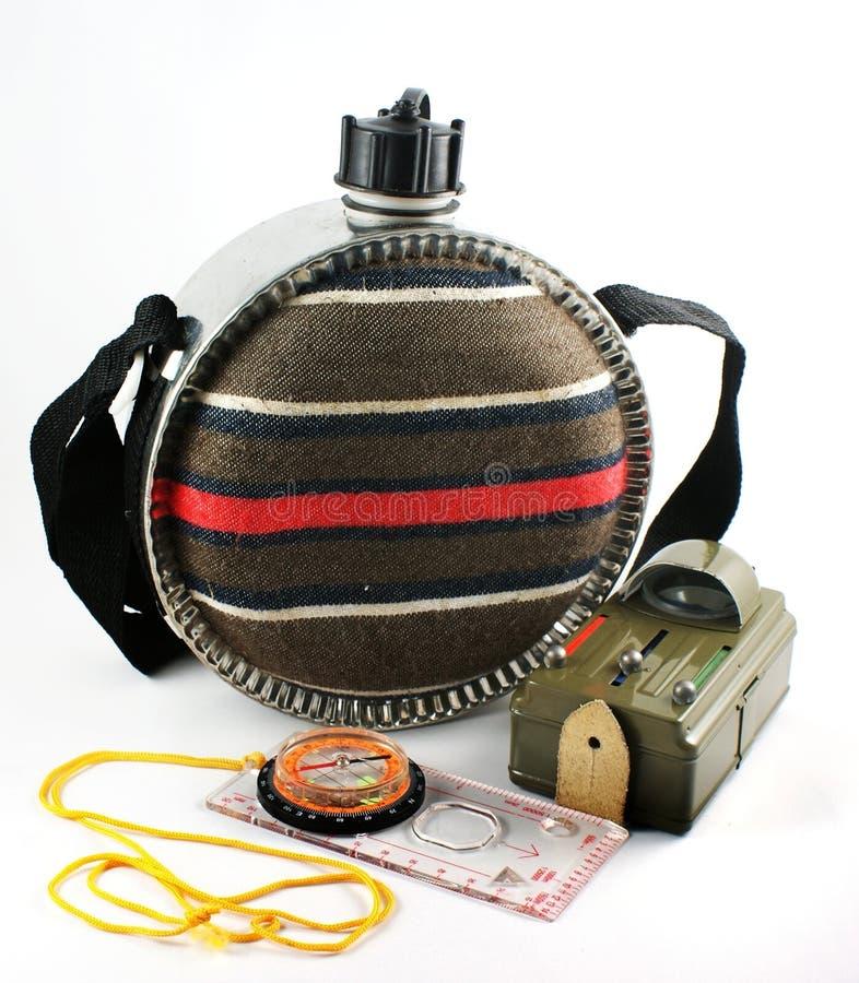 электрофонарь компаса бутылки стоковые изображения rf