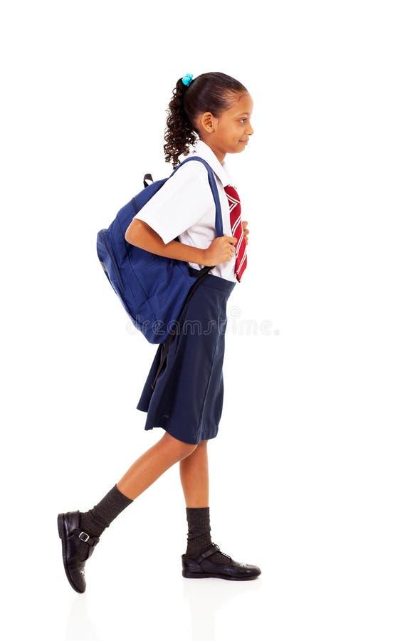 Элементарный гулять студента стоковое фото
