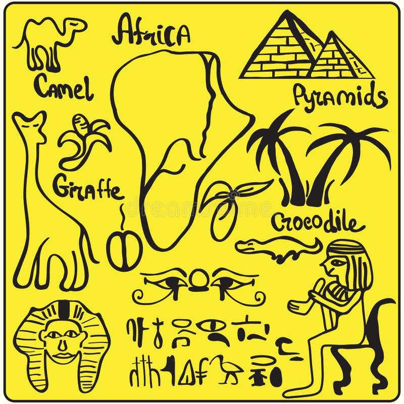 элементы Африки иллюстрация штока