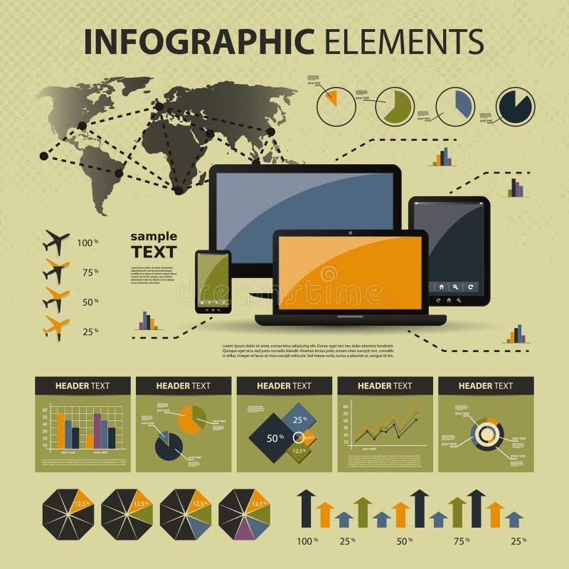 Элементы вектора infographic бесплатная иллюстрация