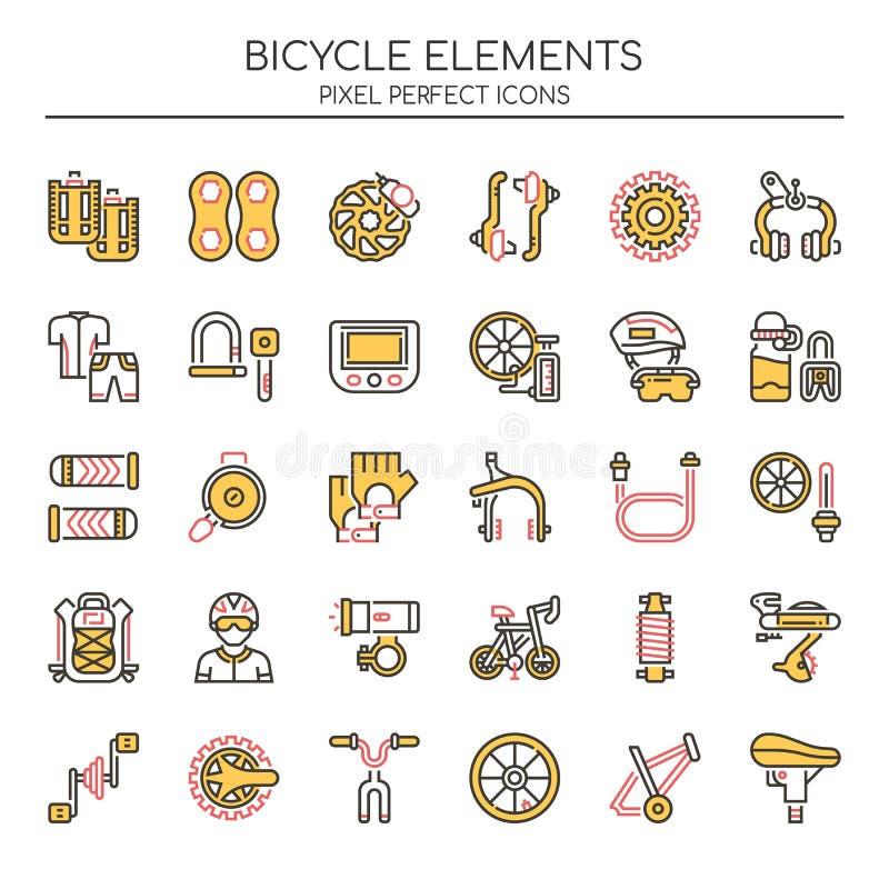 Элементы велосипеда бесплатная иллюстрация