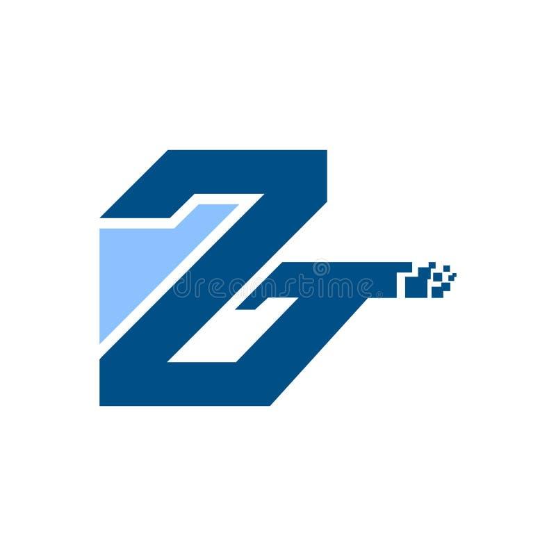 Элементы дизайна вензеля, грациозно шаблон Каллиграфический элегантный дизайн логотипа Линия вензель логотипа z искусства Письмо  бесплатная иллюстрация