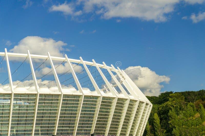 Элементы дизайна национального Olympic Stadium в Киеве после восстановления стоковое фото rf