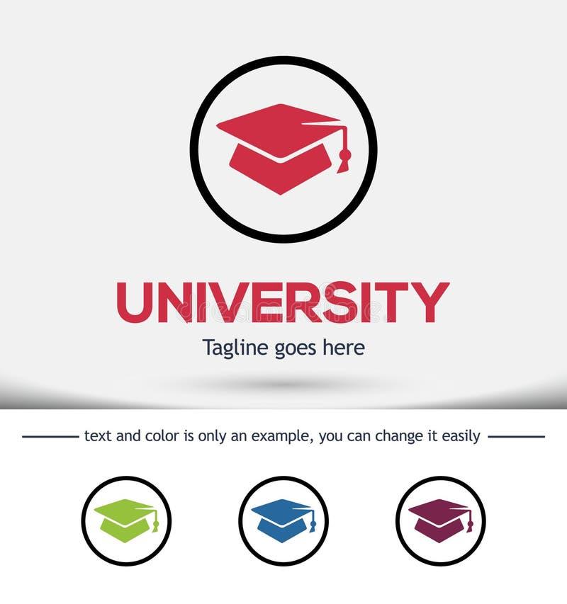 Элементы дизайна шаблона логотипа университета стоковые изображения