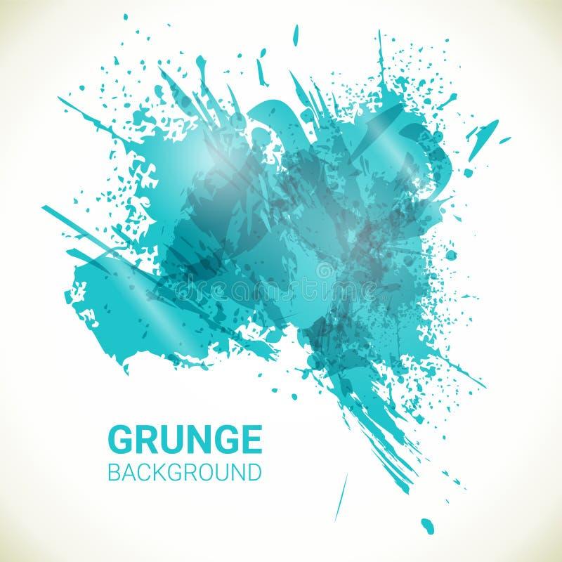 Абстрактная предпосылка вектора Элементы дизайна grunge бирюзы бесплатная иллюстрация