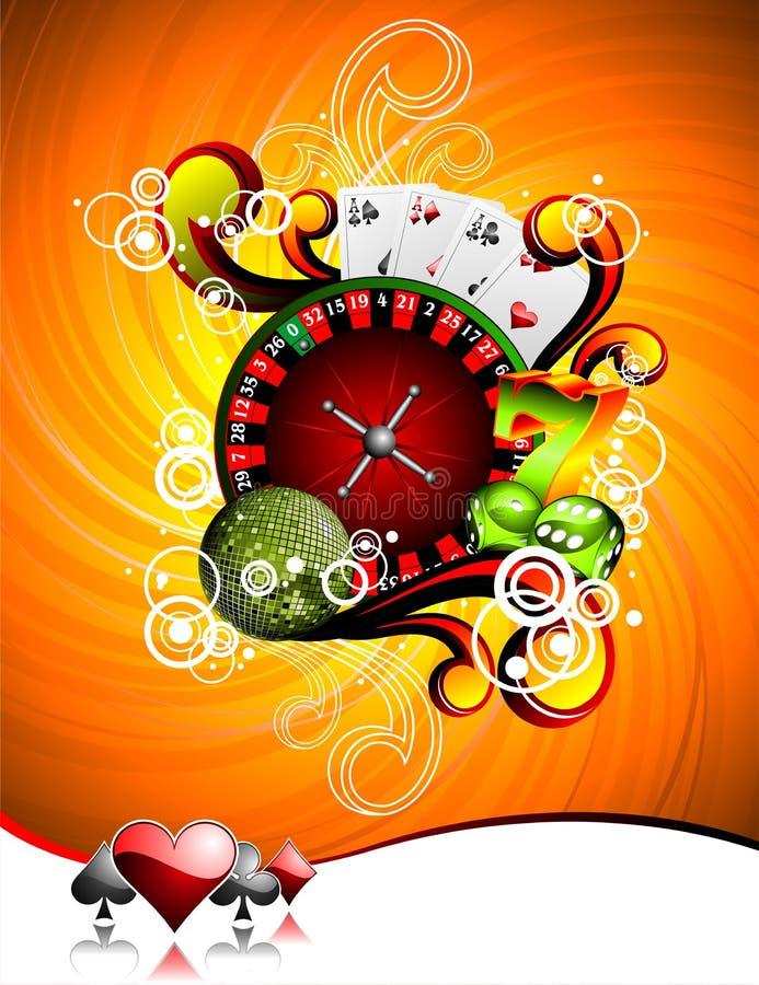 элементы казино играя в азартные игры иллюстрация иллюстрация штока
