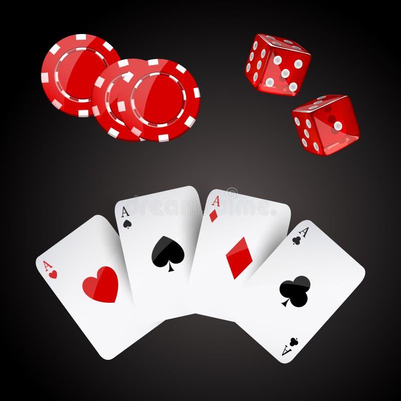 Элементы казино бесплатная иллюстрация