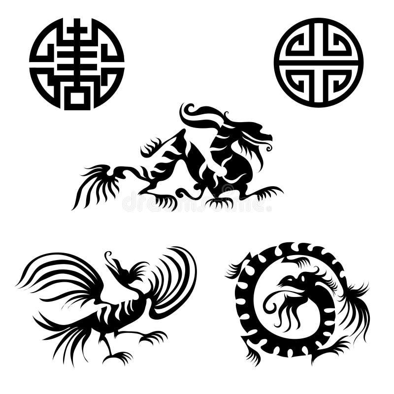 элементы конструкции востоковедные иллюстрация вектора