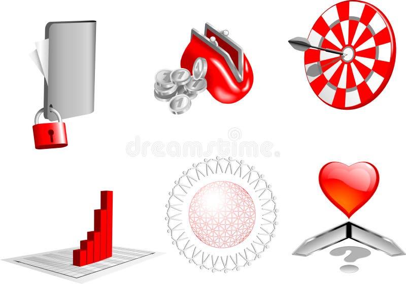 элементы конструкции дела 3d иллюстрация вектора