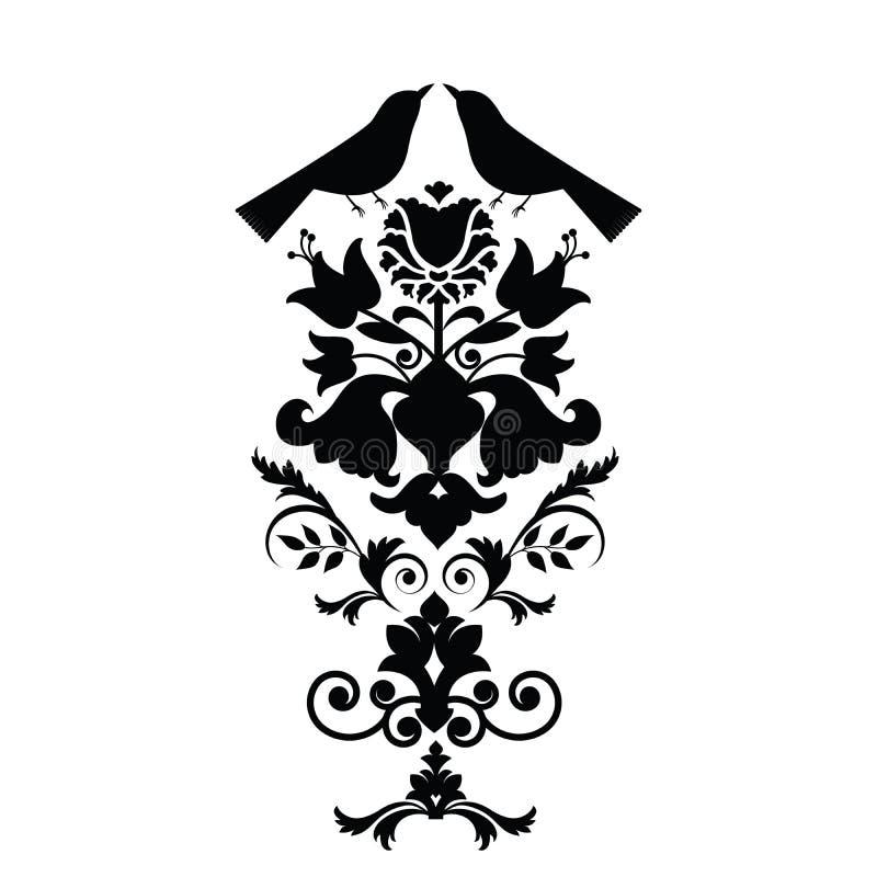 элементы конструкции искусства фольклорные иллюстрация вектора