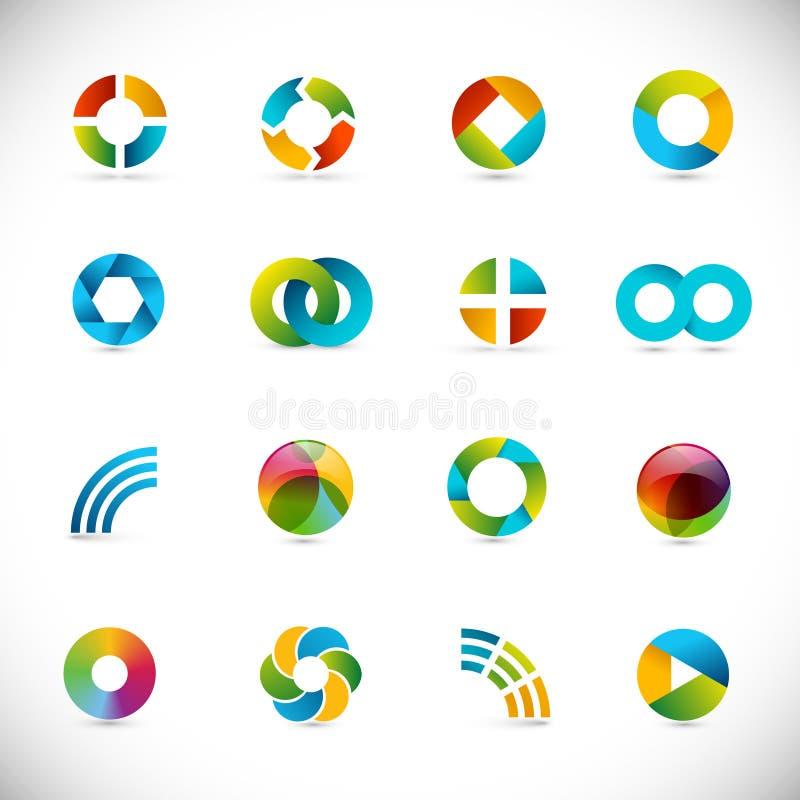 элементы конструкции кругов иллюстрация вектора