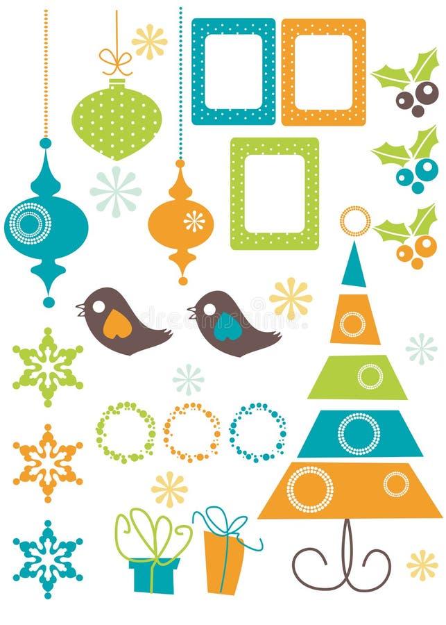 элементы конструкции рождества иллюстрация штока