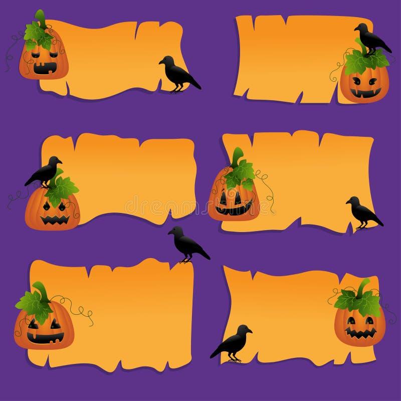 Элементы конструкции scrapbook Halloween иллюстрация штока