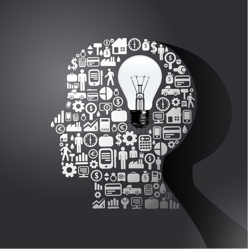 Элементы малые иконы финансы делают в человеке думают бесплатная иллюстрация