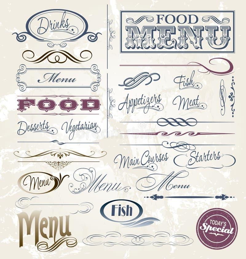 Элементы меню бесплатная иллюстрация