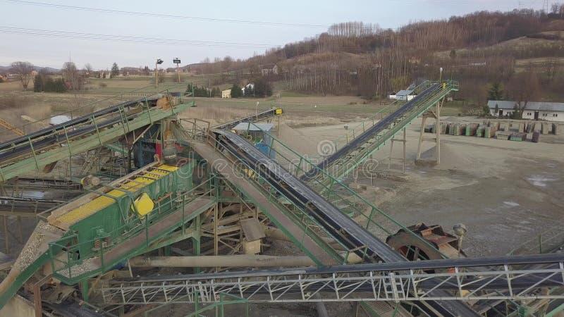 Элементы оборудования для извлечения и сортировать щебня Продукция конструкционных материалов Конструкция металла для стоковые фото