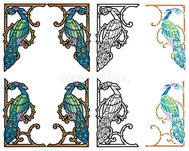 Элементы павлина угловойые бесплатная иллюстрация