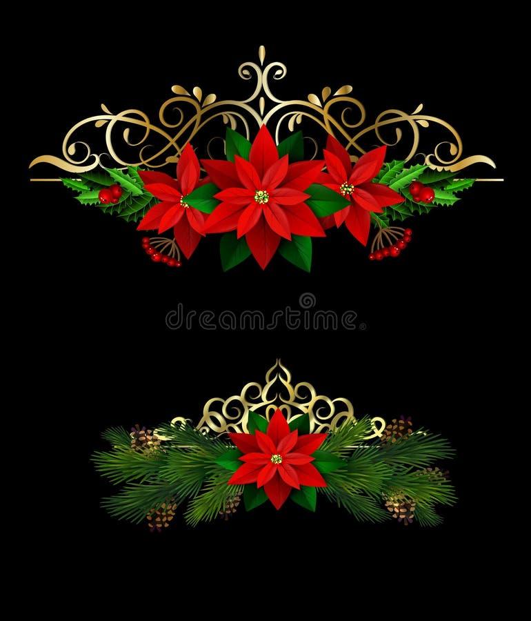 Элементы рождества для ваших дизайнов иллюстрация штока