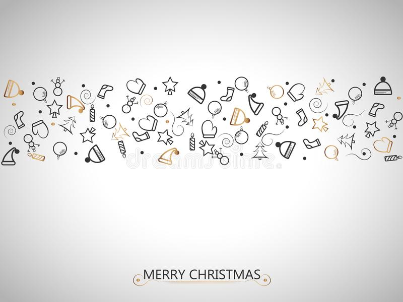 Элементы рождества красные и черные на предпосылке золота для оборачивать, карточки приглашения или других знамен вектор экрана и бесплатная иллюстрация