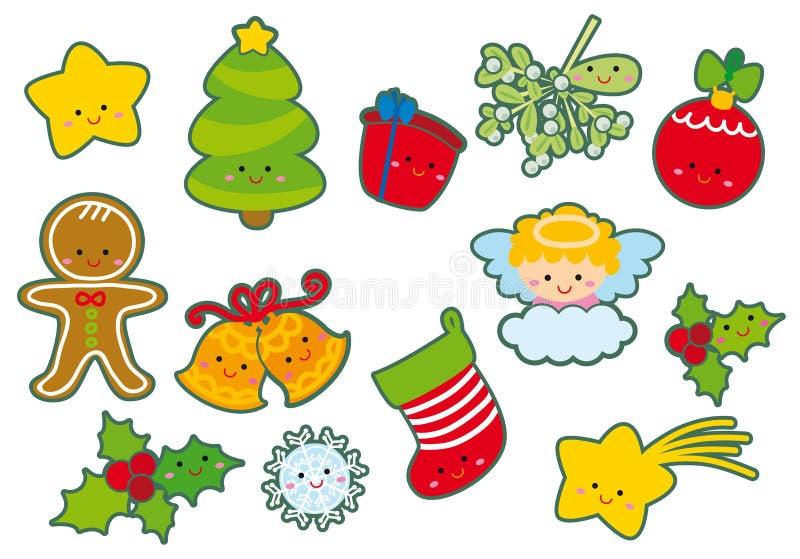 элементы рождества иллюстрация штока