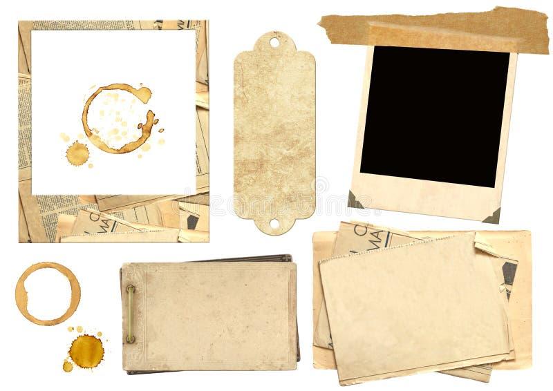 элементы собрания scrapbooking стоковое изображение