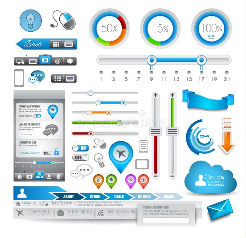 Элементы Infographic - комплект качества иллюстрация вектора