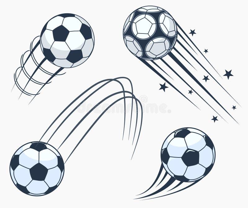 Элементы swoosh футбола футбола двигая, динамический знак спорта вектор иллюстрация вектора