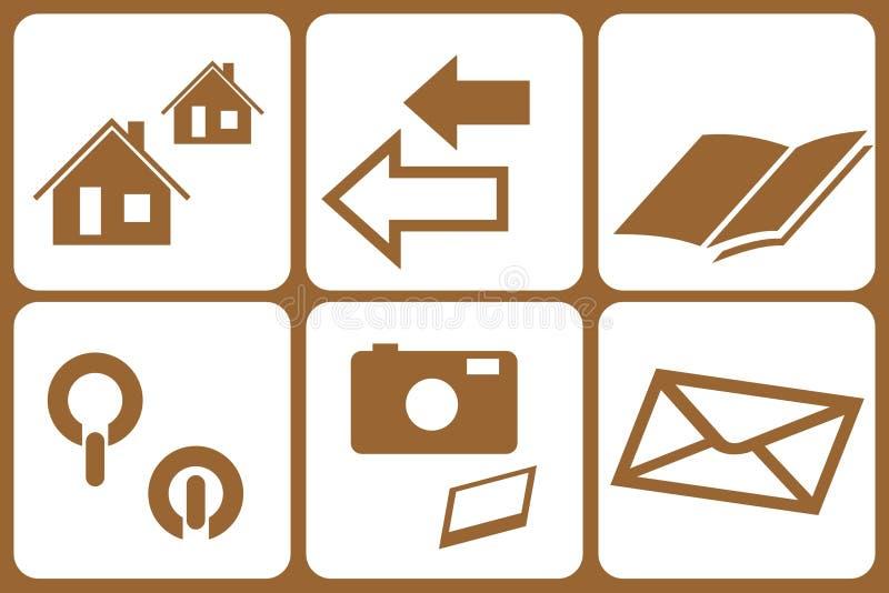 элементы www конструкции иллюстрация вектора