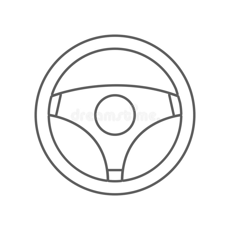 значок руля Элемент автомобиля repear для мобильных концепции и значка приложений сети r иллюстрация вектора