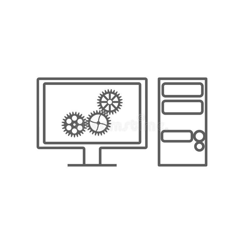 диагностики компьютера значка автомобиля Элемент автомобиля repear для мобильных концепции и значка приложений сети r иллюстрация штока