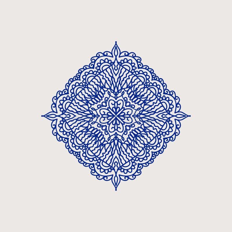 Элемент арабского стиля декоративный иллюстрация вектора