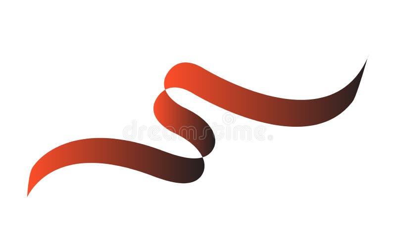 Элемент графика ленты Красного знамени иллюстрация вектора