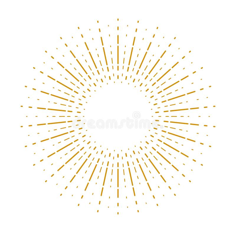 Элемент дизайна вектора Starburst sunburst линейный для логотипа или значка бесплатная иллюстрация